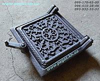 Дверца чугунная сажечистка, люк для золы (130х135мм) сажетруска, печи, грубу, барбекю, мангал, фото 1