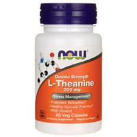 NOW_L-Theanine 200 мг - 60 веган кап / Л-Теанин, фото 1