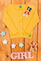 Джемпер на девочку Бантики желтий на пуговици 4-5, 6-7, 8-9 лет