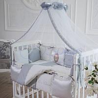 Комплект постельного белья Маленькая соня Mon Cheri стандарт детский серый арт.032552
