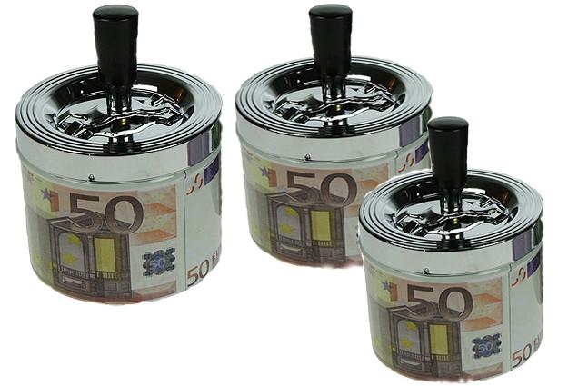 Пепельница (юла) Доллар,Евро №1704