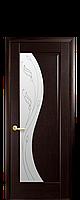 Двери межкомнатные Новый Стиль Эскада (Стекло сатин и рисунок Р1) ПВХ DeLuxe, фото 1