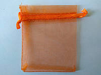Мішечок з органзи, 7*9 см. Оранжевий, фото 1