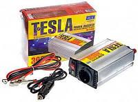 Инвертор напряжения tesla пн-22300, преобразователь 12в – 220в, мощность 300вт, розетка 220v + usb-разъём