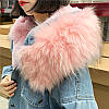 Джинсовая женская куртка с большим меховым капюшоном (демисезон/еврозима), фото 5