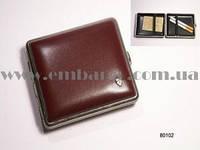 Портсигар для 18 KS сигарет, кожа красная гладкая