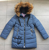 Куртка зимняя на девочку 134-146 размер, фото 1