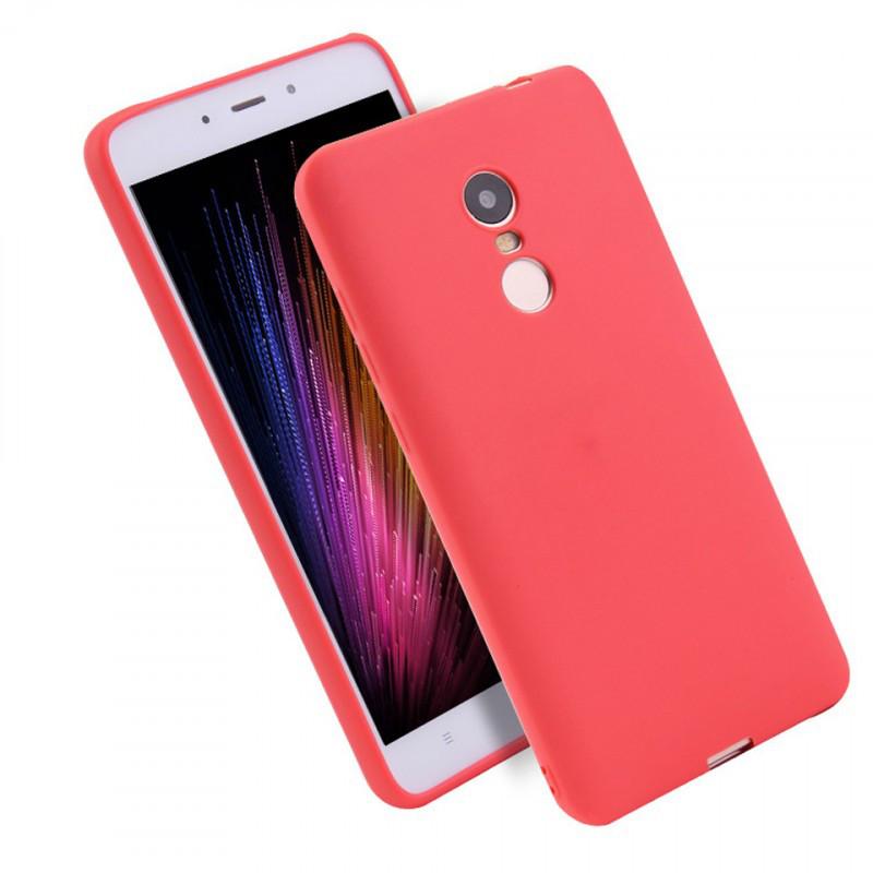 Силиконовый чехол Candy для Xiaomi Redmi 5 Plus (Красный)