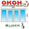 Лоджия Lider 58мм с однокамерным энергосберегающим стеклопакетом 2800x1500 мм