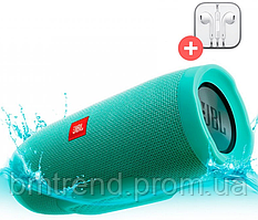 Портативная Bluetooth колонка в стиле JBL Charge 3 + MP3 FM USB. Бирюзовая.Turquoise