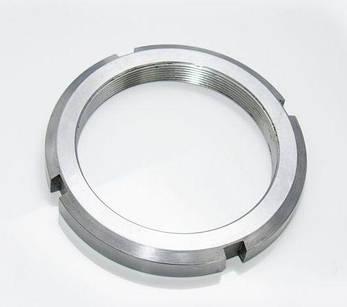 Гайка М135 (КМ 27) стальная круглая шлицевая DIN 981, фото 2