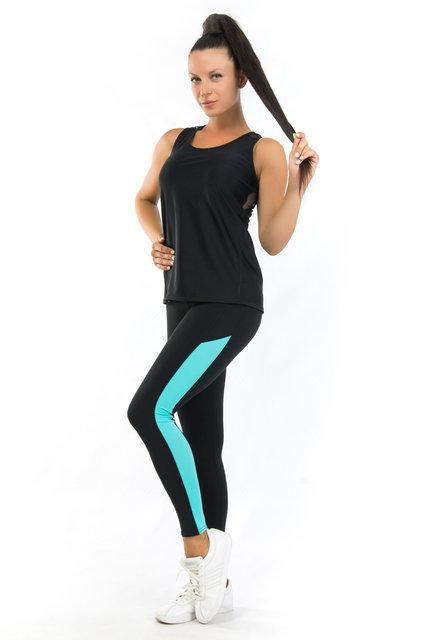 Женская одежда для спорта (42,44,46,48,50) (мята) одежда для йоги и фитнеса из бифлекса