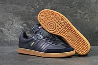 Кроссовки мужские темно синие Adidas Samba 6071