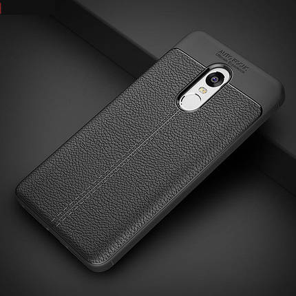 "TPU чехол ""Leather grain"" для Xiaomi Redmi redmi 5 plus Black, фото 2"