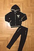 Трикотажный костюм-двойка для девочек оптом, F&D, 4-12 лет, арт. S-6024, фото 2