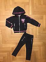 Трикотажный костюм-двойка для девочек оптом, F&D, 4-12 лет, арт. S-6024, фото 4