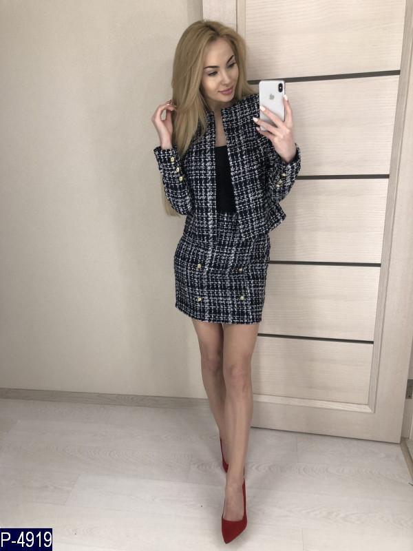 089f9401235 Женский костюм двойка букле пиджак+юбка