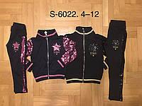 Трикотажный костюм-двойка для девочек  оптом, F&D ,4-12 лет., арт.S-6022