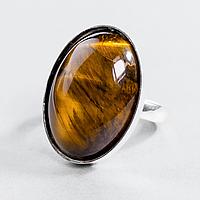 Тигровый глаз, 25*18 мм., серебро 925, кольцо, 923КТ