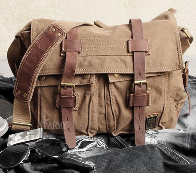 Мужская сумка Army casual коричневая