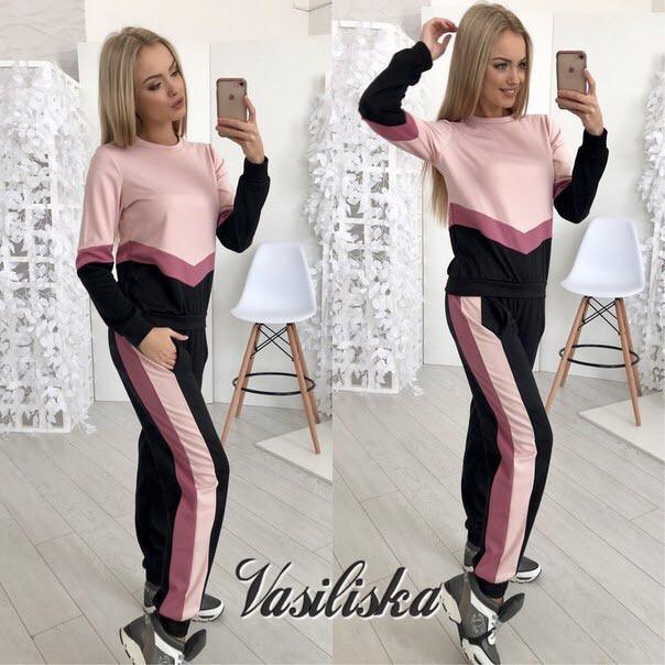 59c818fdfaa Спортивный костюм женский с комбинацией цветов - Интернет-магазин