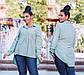 """Стильная женская рубашка-туника до больших размеров """"Софт Ассиметрия Кокетка"""" в расцветках, фото 4"""