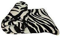 NEW! Теплые махровые полуторные пледы из микрофибры Zebra 1,5 м * 2,2 м вельсофт (микрофибра) ТМ УКРТРИКОТАЖ!