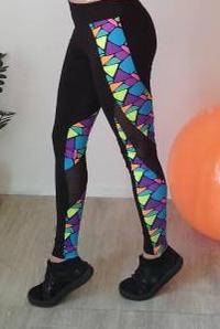 Эластичные лосины для спорта с разноцветными вставками 42-48 р, фото 2