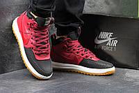 Мужские кроссовки черные с бордовым Nike Lunar Air Force LF1 6012