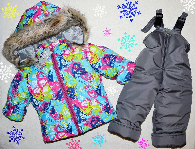 Зимний комбинезон +куртка на девочку 1-2 года, фото 1