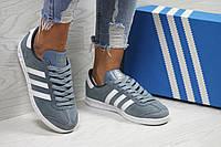 Кроссовки женские темно голубые Adidas Hamburg 6025