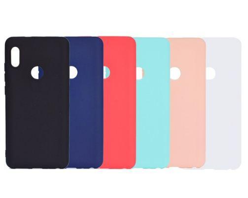 Цветной силиконовый чехол Xiaomi Redmi Note 5 / 5 Pro Бирюзовый