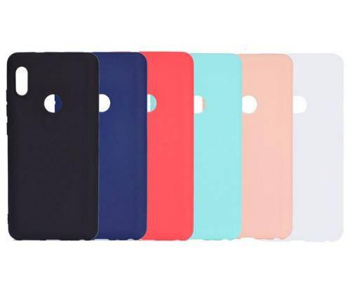 Цветной силиконовый чехол Xiaomi Redmi Note 5 / 5 Pro Бирюзовый, фото 2