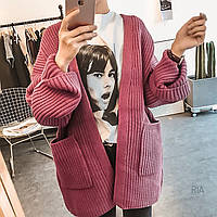 Женский стильный кардиган с карманами (3 цвета), фото 1