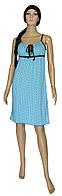 NEW! Женские молодежные ночные рубашки на тонких бретелях - Viola Bright Blue ТМ УКРТРИКОТАЖ!