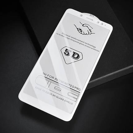 Стекло Full Coverage 5D Xiaomi Redmi Note 5 / 5 Pro цвет White, фото 2