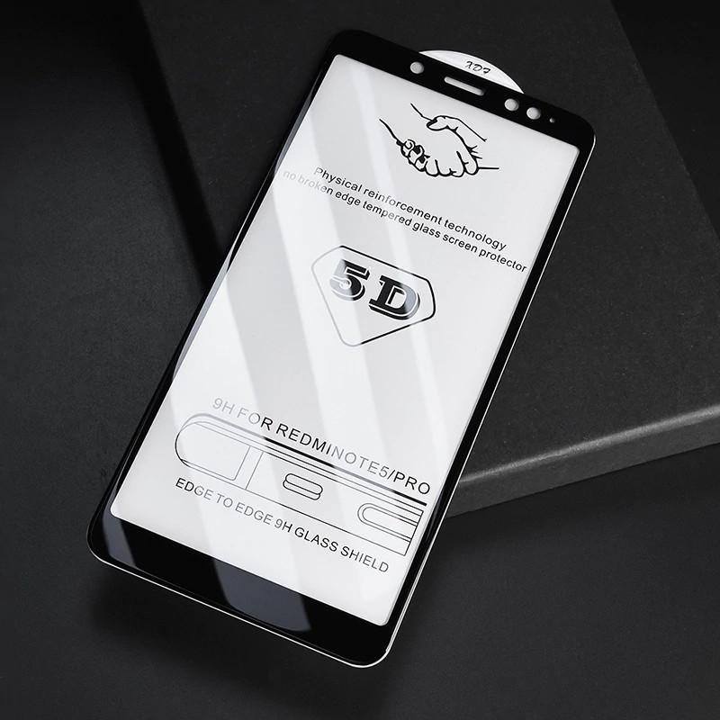 Стекло Full Coverage 5D Xiaomi Redmi Note 5 / 5 Pro цвет Black