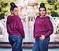 """Стильный женский джемпер до больших размеров """"Ангора Реглан Капюшон"""" в расцветках, фото 6"""