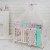 Комплект постельного белья Маленькая соня Baby Пирожные №28 стандарт/овал детский арт.032080