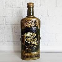 Стимпанк бутылка Механический мираж Подарки в стиле steampunk Ручная работа, фото 1