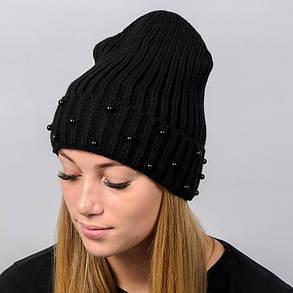 """Удлиненная женская шапка """"Monaco"""" с отворотом, фото 2"""