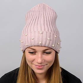 """Удлиненная женская шапка """"Monaco"""" с отворотом"""