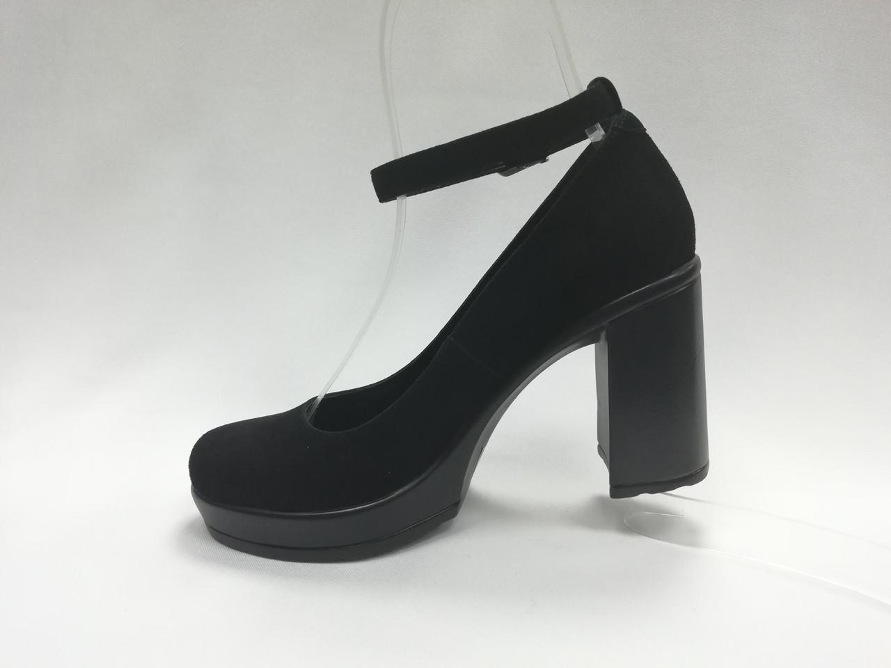 dc64457fd ... фото Черные замшевые туфли на каблуке. Маленькие ( 33 - 35) размеры.,  ...