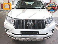 Защита переднего бампера / Кенгурятник Toyota Land Cruiser Prado150 (2017-) (Shark)