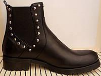 Ботинки челси демисезонные на низком ходу из натуральной кожи от производителя модель ОК-35, фото 1