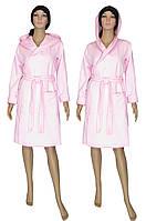 NEW! Нежные и теплые женские стеганные халаты цвета зефира - серия Kapiton Light Pink коттон ТМ УКРТРИКОТАЖ!