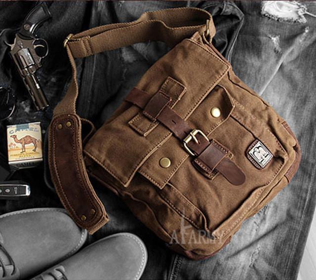 Мужская сумка Army | милитари | коричневая