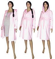 095008093ee6 Ночная рубашка и теплый халат 18081 KapViol Light Pink для беременных и  кормящих, р.