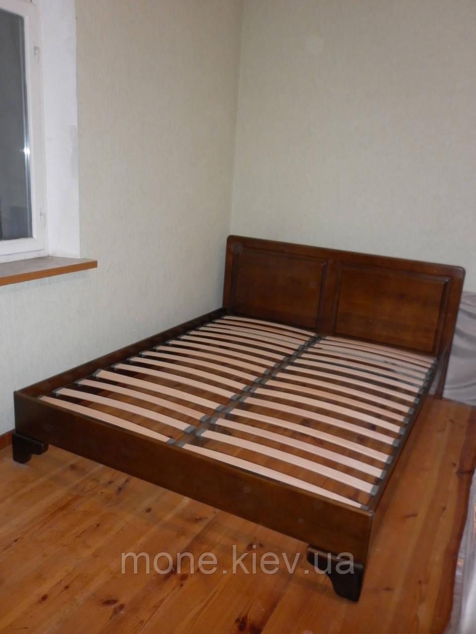 """Кровать """"Еней"""" из натурально дерева двуспальная"""