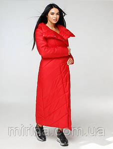 Модный длинный Пуховик-Одеяло.  ПВ-1133 Лаке Тон 76